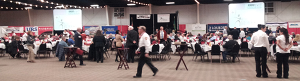 XPROi A/V Provided Screens Projectors & Lighting for the Red Cross Real Hero's Breakfast